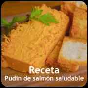 puding de salmón saludable